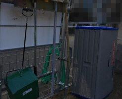 施工前に掃除道具が設置されてます。