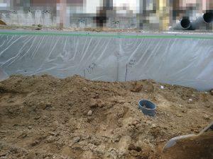 汚水の配管が2つ