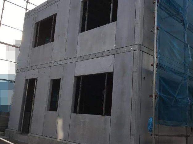 建て方は、あっという間。