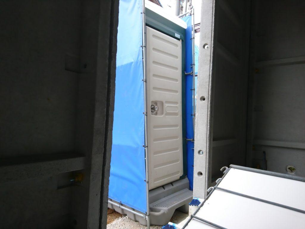 仮設トイレが設置されました