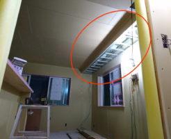 リビングで天井が下がっている場所