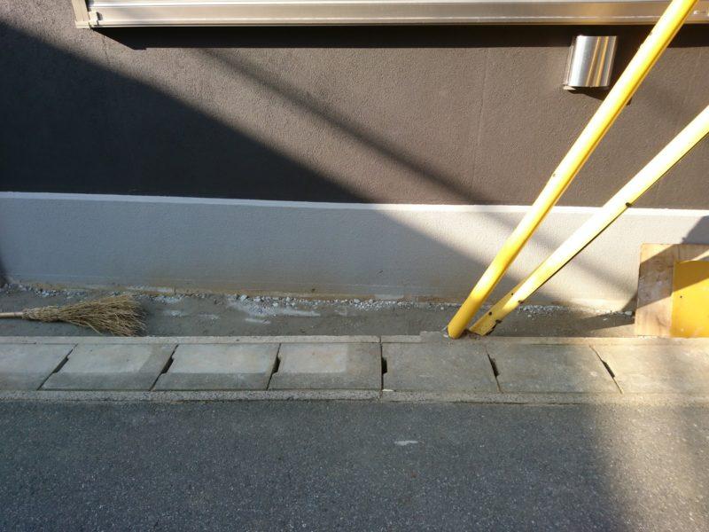 基礎コンクリートを塗装