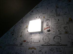 トイレの壁面に付けた照明